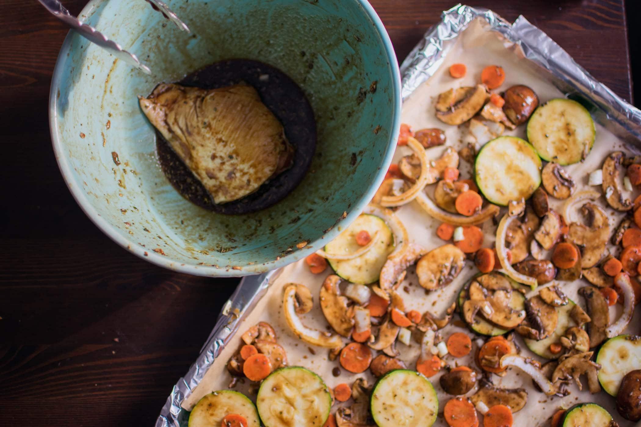 Sheet Pan Dinner: Balsamic Chicken