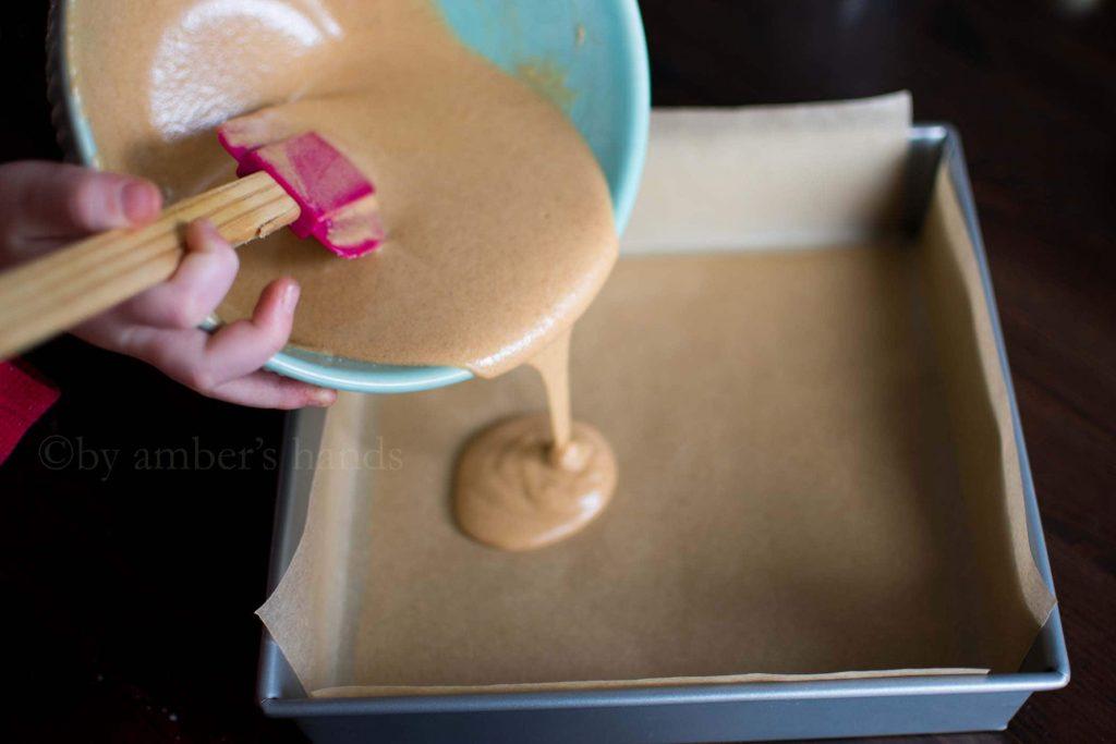 Low Carb Chocolate Peanut Butter Bars -keto cake walk-